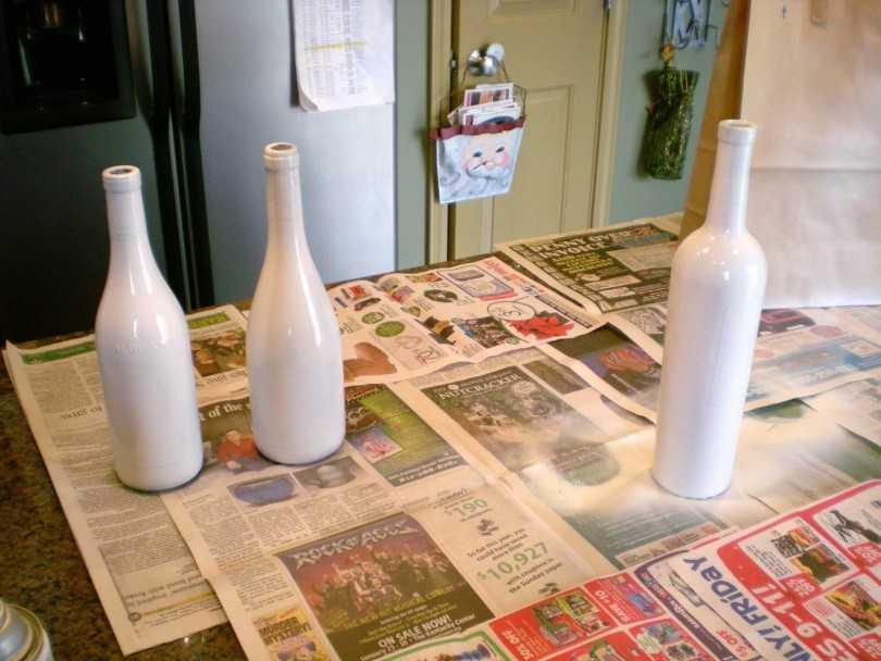 Декорирование бутылок тканью мастер класс