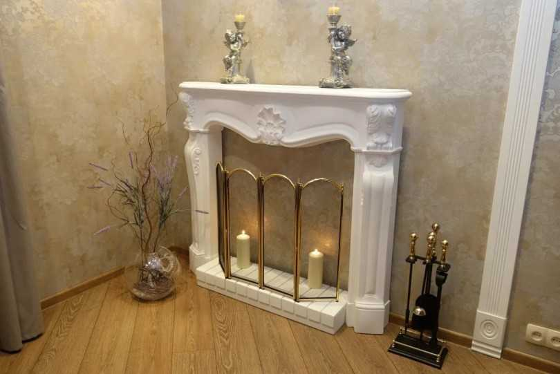 Камин из картона своими руками - варианты декоративных каминов