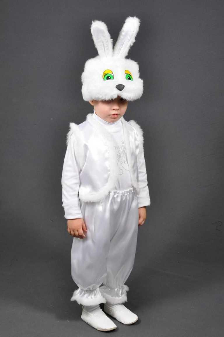как сделать костюм зайца своими руками фото просто покатать лесу