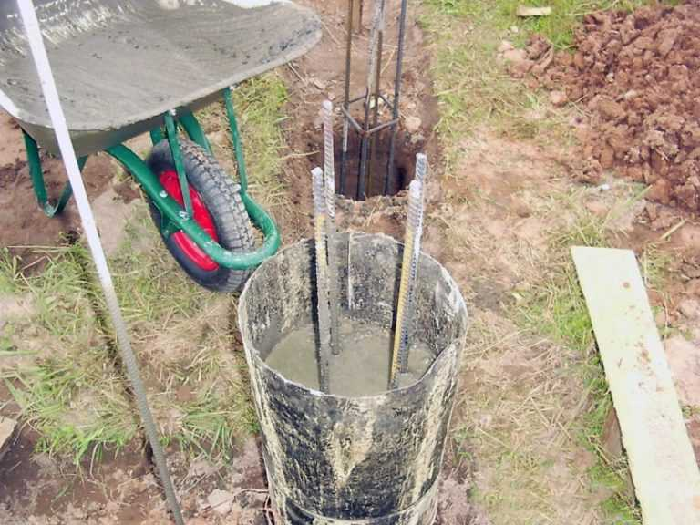 как сделать бетонный столб своими руками