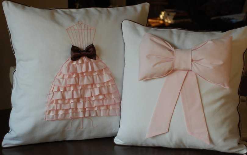 Как красиво украсить подушку