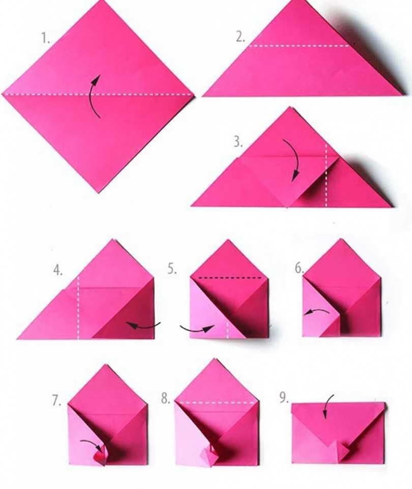 Как сделать из бумаги конверт — pic 14