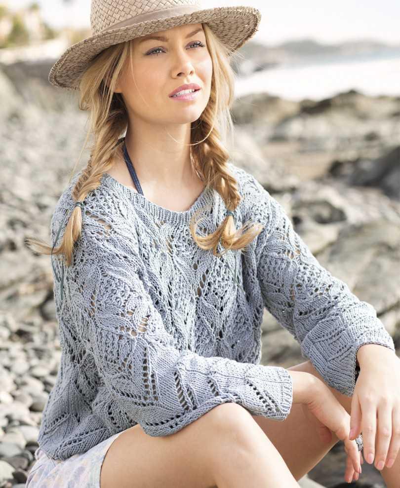 свитер ажурный фото