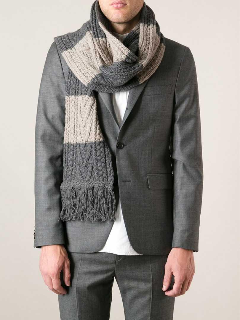 Как просто связать спицами красивый, стильный мужской шарф с двухсторонним узором