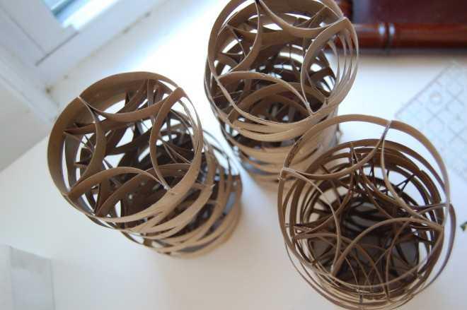 Поделки из втулок от туалетной бумаги: как сделать своими руками елку на Новый Год, мышку, сову, конфеты, органайзер или замок